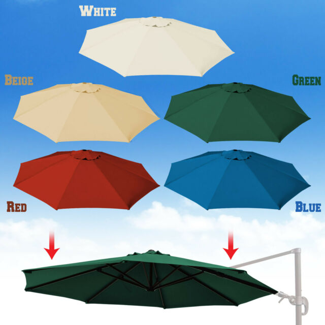 Beau Replacement Canopy For 11.5ft Round ROME Cantilever Patio Umbrella Cover Top