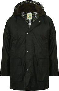Mens-Wax-Jacket-Waterproof-Cotton-Padded-Hunting-Shooting-Fishing-Made-in-UK