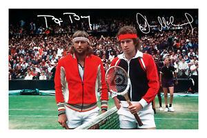 Bjorn-Borg-and-John-McEnroe-Signed-A4-Autograph-Photo-Print-Tennis-Wimbledon
