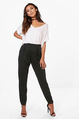 Boohoo Petite Jersey Split Side Hareem Trousers 8 Uk BNWT RRP £15.99 Olive