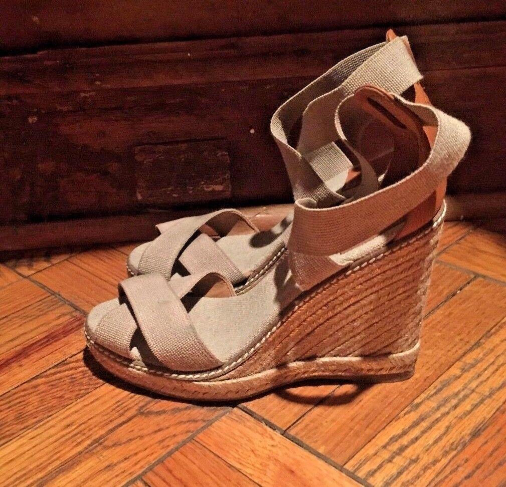 Nya sandaler av Tory Burch och läderskor 7 sand beige färg Spanien