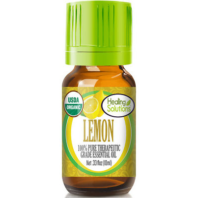 Organic Lemon Essential Oil (100% Pure - USDA Certified Organic)
