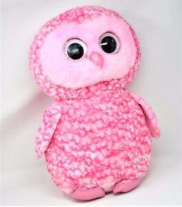 b9e0e9e8dc3 TY Beanie Boos - PINKY the Pink Barn Owl Glitter Eyes LARGE Size ...