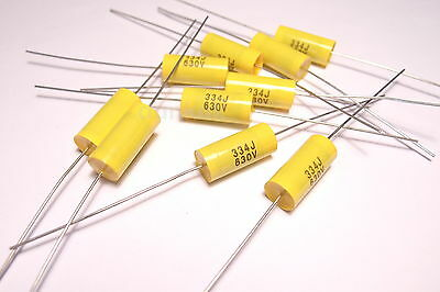 Lot de 25 condensateurs axiaux en polypropyl/ène m/étallis/é 470 nF 630 V /± 10/%