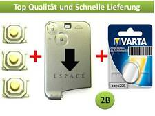 Renault Espace 4 Schlüssel Karte 2 tasten button Key Card cle Llave chiave case
