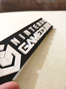 Nintendo-GameCube-video-game-logo-sign-8-5in-3D-printed-man-cave-game-room