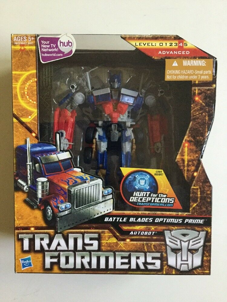 Transformers Hunt for the Decepticons HFTD Voyager Battle Blades Optimus Prime