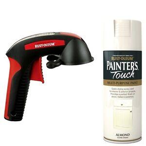 Rust-Oleum-Painters-Touch-Spray-Paint-Gloss-Matt-Satin-with-Trigger-Spray-Gun