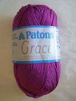 Patons Grace 100% Mercerized Cotton Yarn 1 Sk Choice/color