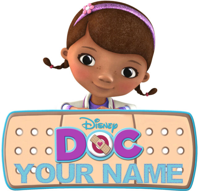 DOC McSTUFFINS STICKER WALL DECAL OR IRON ON TRANSFER T-SHIRT FABRIC PERSONALISE