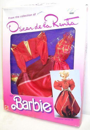 Nunca quitado de la Caja Mattel Barbie Oscar De La Renta Moda colector serie