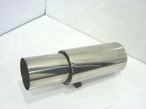 """4"""" Jap Style Universal Exhaust 3""""/76mm Inlet Stainless Steel Back Box"""