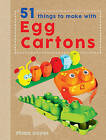 Crafty Makes: 51 Things to Make with Egg Boxes by Fiona Hayes (Hardback, 2016)