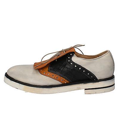 Zapatos caballero zapatos moma 42 UE elegante blanco amarillo de cuero ae977 b | eBay