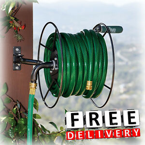 Image Is Loading Wall Mount Garden Hose Reel Heavy Duty Lawn