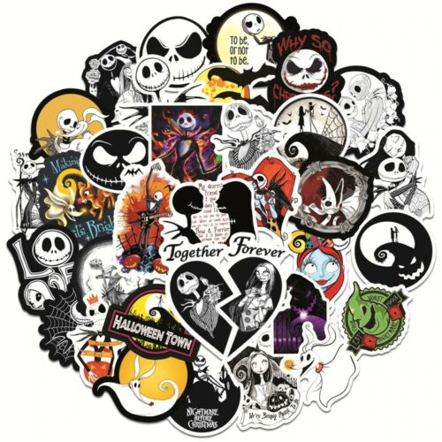 50pcs Nightmare Before Christmas Halloween Movie Sticker pack for Laptop