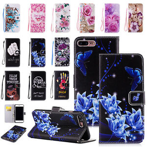 Flip Pattern Leather Case Wallet Stand Phone Cover For iPhone X/8/7 Plus/6/Xs/XR