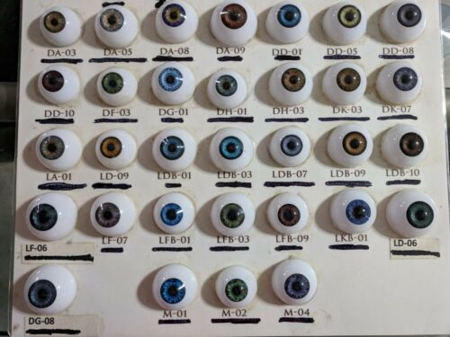 ACRYLIC LIFE LIKE DOLL EYES ~ 24mm HALF ROUND BEAUTIFUL, PLEASE READ DESCRIPTION