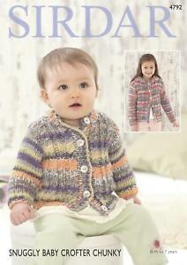 0bc514b46 Sirdar 4792 Knitting Pattern Cardigans in Snuggly Baby Crofter ...