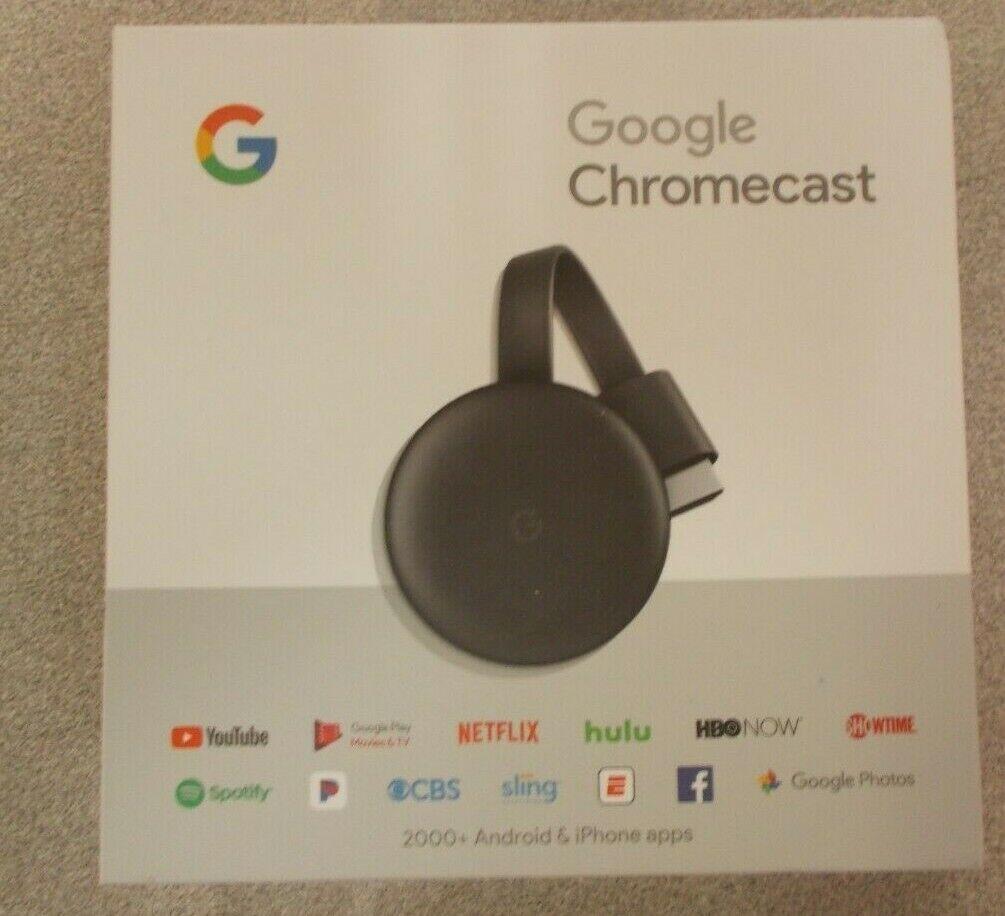 Google Chromecast 3rd Generation Streaming Media Player Charcoal OEM 3rd charcoal chromecast generation google media oem player streaming