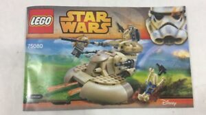 Details about LEGO 75080 Star Wars AAT Vehicle Instruction Manual BOOK  booklet Only