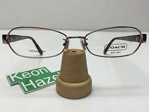Womens Coach Leslie 213AF Titanium Eyeglasses Frames ...