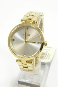 Fossil-BQ7022-Suitor-Three-Hand-Gold-Tone-Stainless-Steel-Bracelet-Ladies-Watch