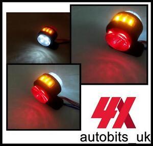 4x-LED-Rojo-Blanco-Ambar-de-posicion-lateral-Luces-Para-Camion-Trailer-12v