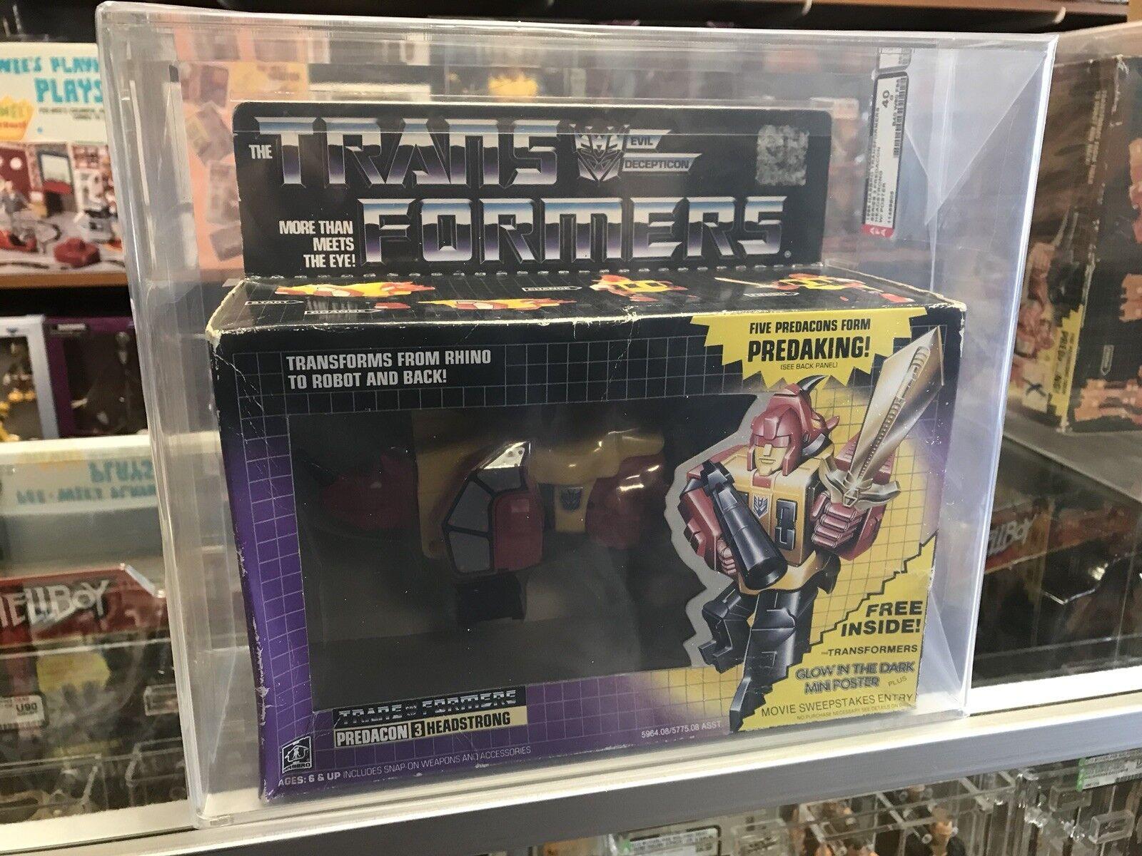 1986 Transformers Vintage Series 3 Predacon Headstrong AFA 40