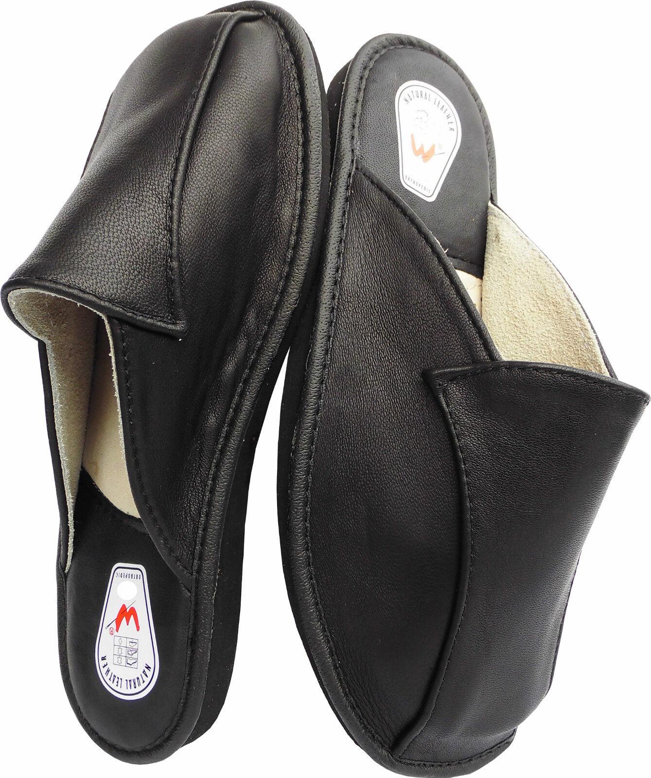 Hausschuhe - Latschen - Pantoffeln Poland Gr.40 Echt LEDER (Made in Poland Pantoffeln 4-11-4-79) b745d7