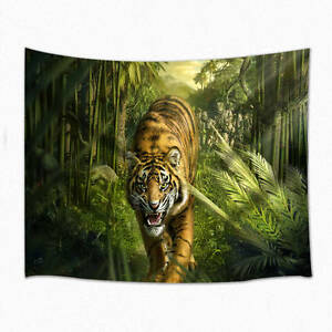 Image Is Loading Tiger Tapestry Wall Hanging For Living Room