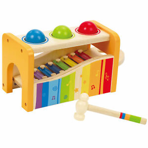 Hape-Kids-Wooden-Musical-Instrument-Rainbow-Pound-and-Tap-Bench-with-Xylophone