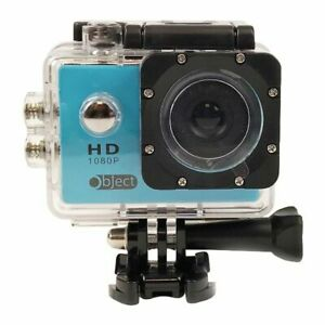 NEW-Object-Action-Sports-Camera-1080p-with-Waterproof-Case-memory-card-BLUE