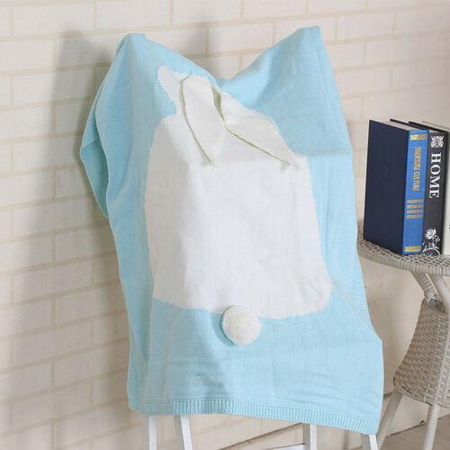Kids Baby Rabbit Knitting Bedding Quilt Play Blanket Animal Kids Throw Blank New