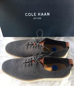 COLE-HAAN-Men-039-s-OriginalGrand-Stitchlite-Wingtip-Oxford-C27961-Magnet-Ivory-Gray