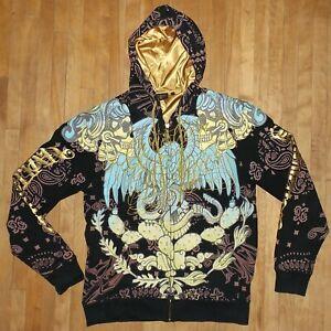 551c8eb6 Details about CHRISTIAN AUDIGIER hoodie sweatshirt hooded hoody BLING size  MEDIUM
