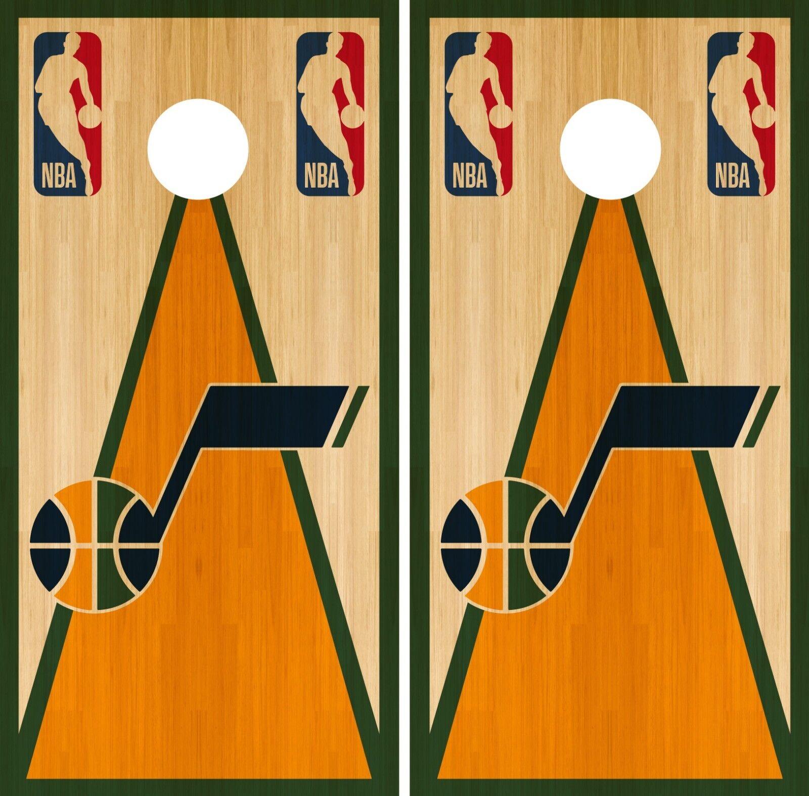 04ccdc008846 Utah Jazz Cornhole Wrap NBA Skin Board Vinyl Decal Vintage CO719 Game Set  nmqwtk8408-Cornhole Bag Toss