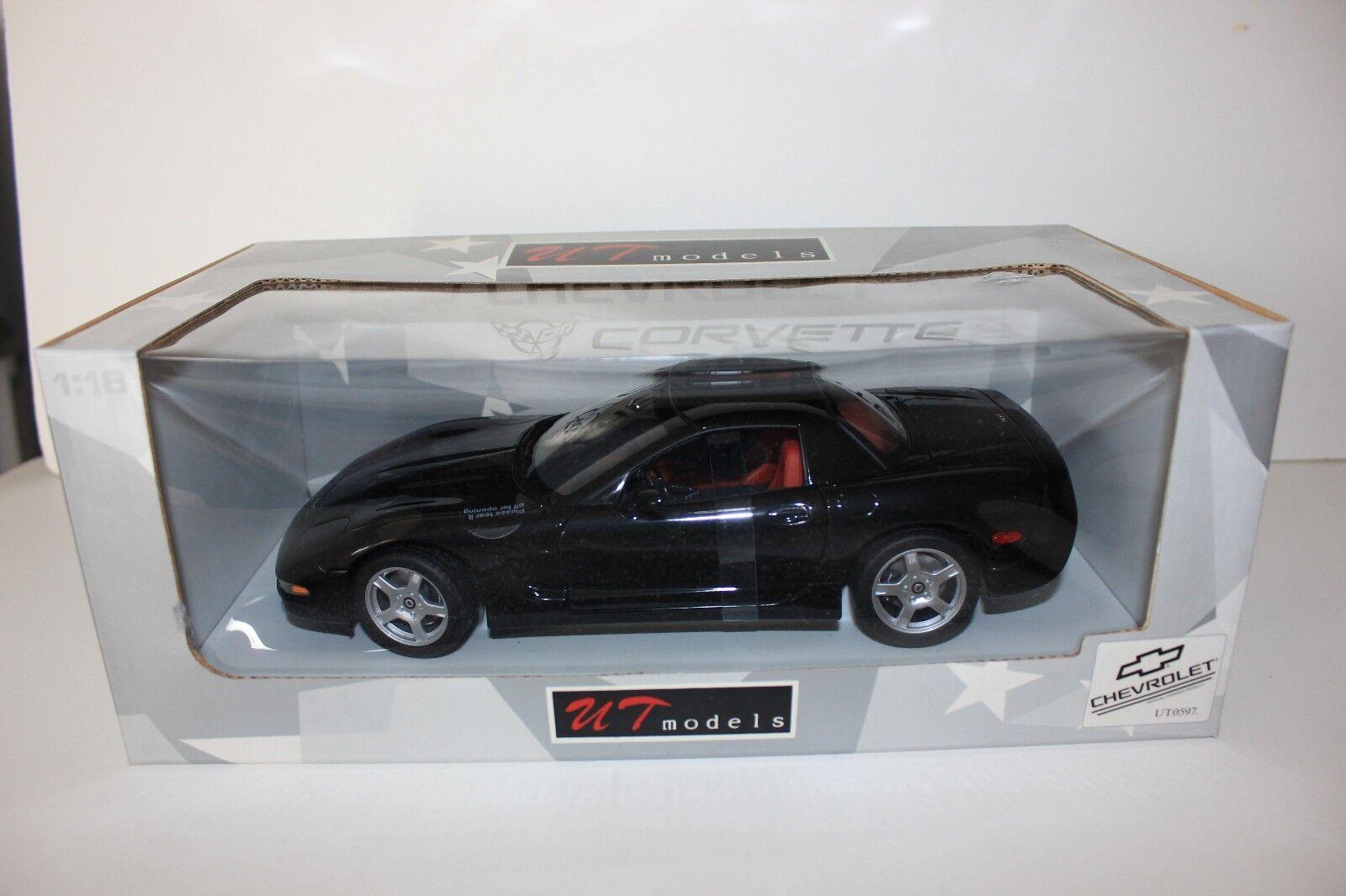 UT  1 18 - 1999 CHEVROLET CORVETTE C5 Hardtop Noir Comme neuf 21042  meilleure vente