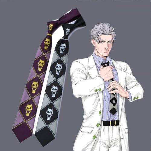 Jojo/'s Bizarre Adventure killer queen kira yoshikage Noir Violet Cravate Noire Hommes