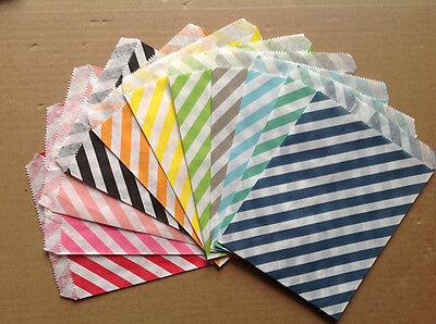 75 Pièces Diagonale Rayures Gâteau Snack pop-corn FRITES HAMBURGER FOOD HUILE sacs en papier