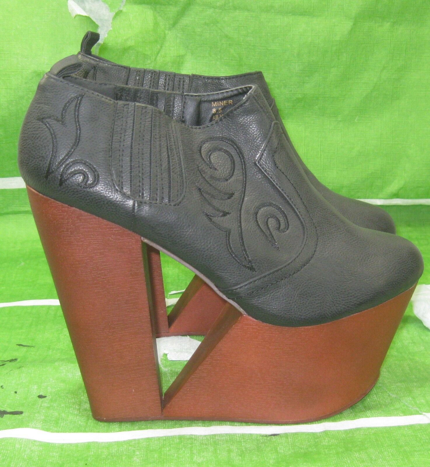 New ladies Privileged 6.5  High Heel 3  Platform Sexy ankle Boots Size 9