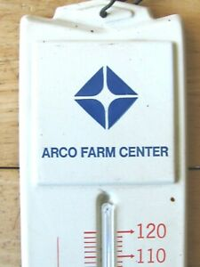 ATLANTIC RICHFIELD ARCO FARM CENTER 1970'S ADVERTISING THERMOMETER LAFAYETTE IL