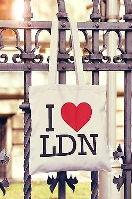 I Love Manchester Canvas Tote Bag Shopper Heart MCR