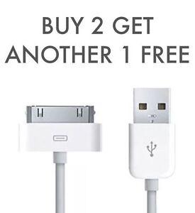 Carga-Cable-Cargador-De-Plomo-Genuino-para-Apple-iPhone-4-4S-3GS-Ipod-Ipad-2-y-1