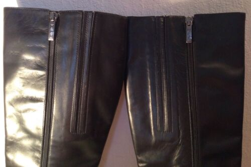 Duo Boots High 8 Leather Slim Size Knee Ladies Fit 7qdxg7