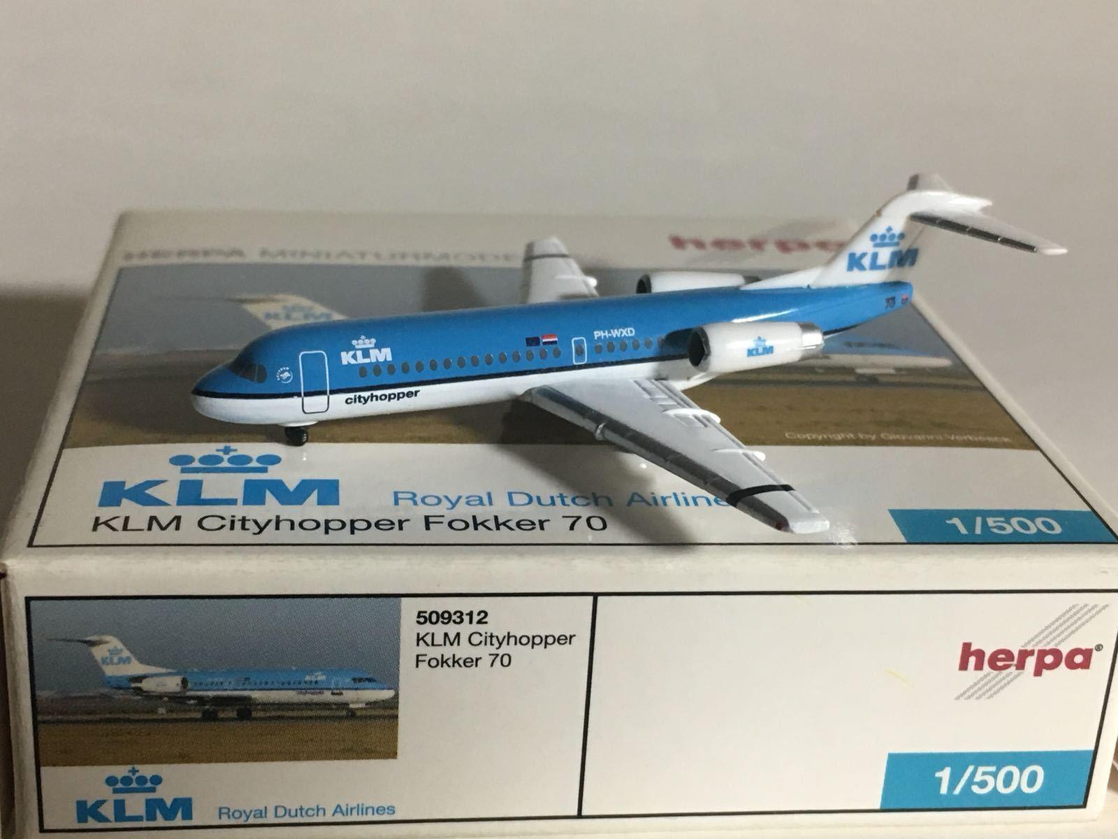Las ventas en línea ahorran un 70%. Herpa Wings Wings Wings KLM Cityhopper Fokker 70 1 500 509312 ph-WXD  despacho de tienda