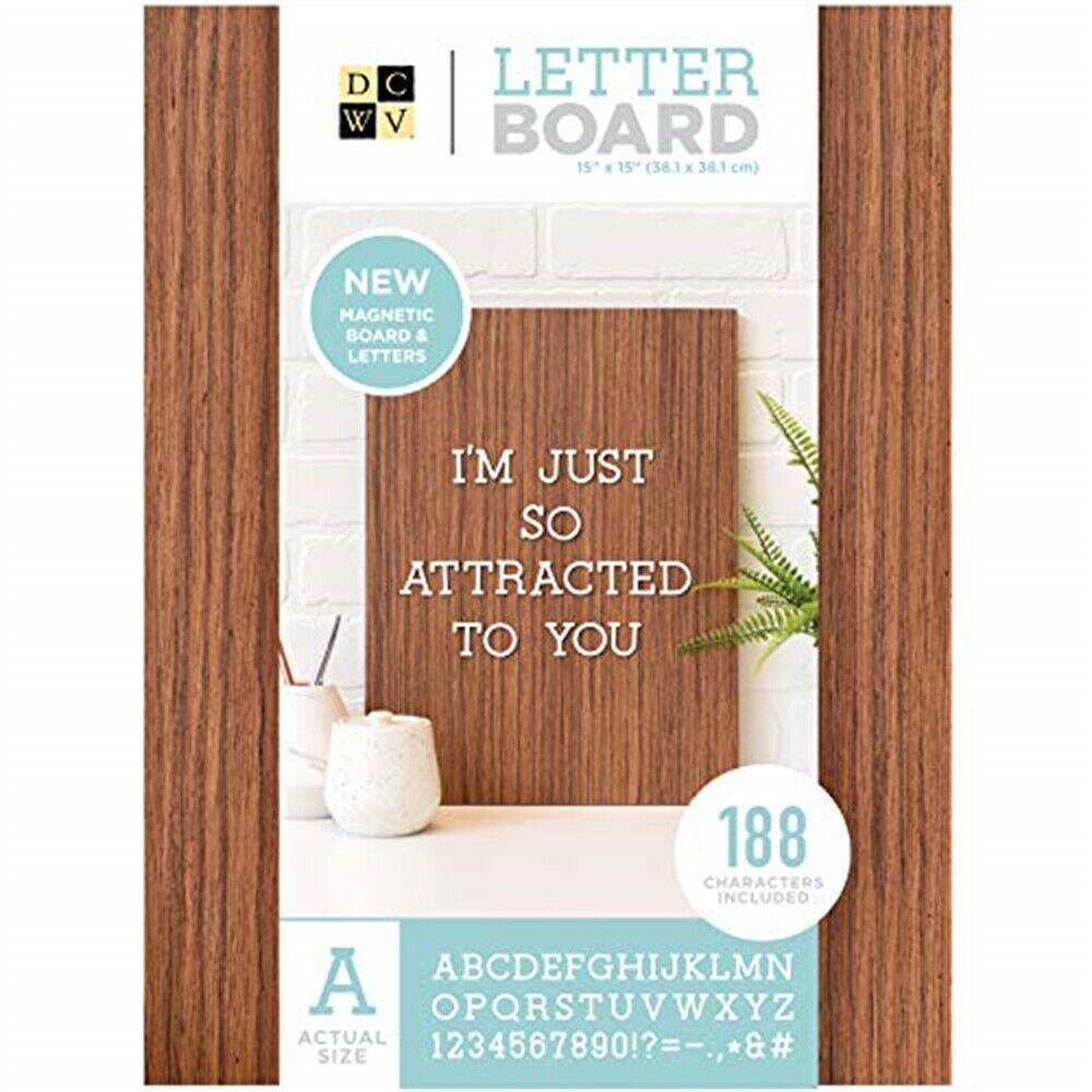 Dcwv Magnetic Letterboard 14 x20 -dark Wood