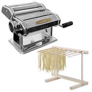 Tradizioni Italiane macchina per la pasta fresca manuale + essiccatore in legno