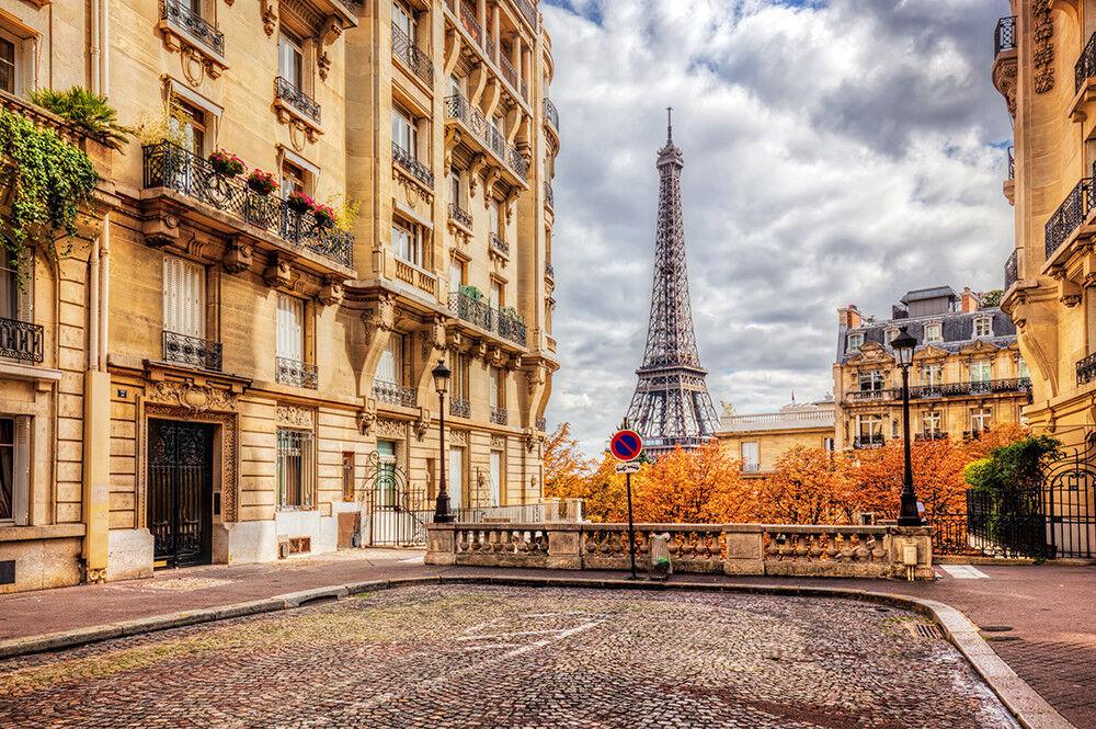 Fototapete Paris Eiffelturm Herbst - Kleistertapete oder Selbstklebende Tapete