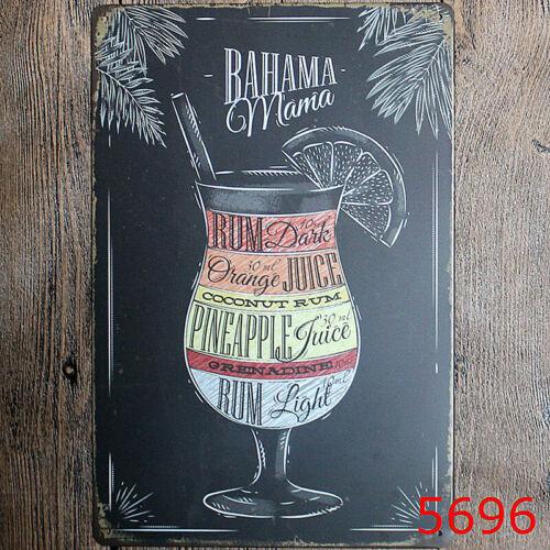 Vintage Retro Malerei Blech Schild Plakat Metallschild Rustikal Club Hausbar Pub